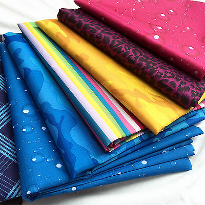 Printed Waterproof Ripstop PU Fabric Outdoor Coating Cover Material Meter Zaione