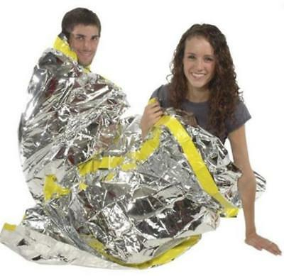 Emergency Foil Sleeping Bag Reflective Survival Thermal Rescue Blanket FirstAid