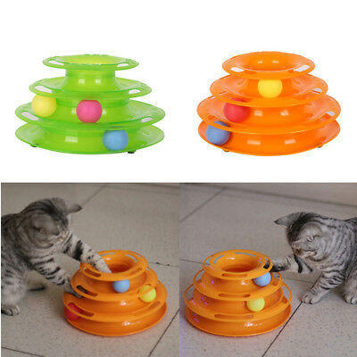 AU Pets Cat Toys Dog Crazy Ball Disk Interactive Amusement Plate Trilaminar Toy