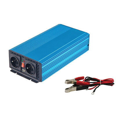 Convertisseur de courant 12V vers 220V 1000W - USB - Branchement Batterie - 3633