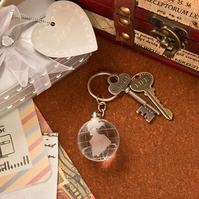 Choice Crystal Collection Crystal Glass Globe With Key Chain ~ Gifts & Favors