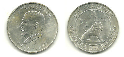 PARAGUAY - Silver 300 Guaranies, 1968 -Stroessner Commemorative -  KM #29