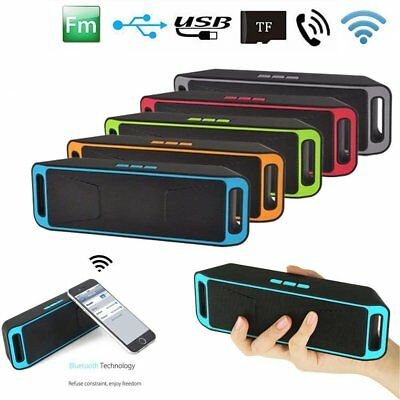 Mini Bluetooth Altavoz Portátil Altavoz Inalámbrica Estéreo USB AUX FM MP3 TF