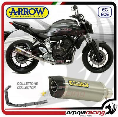 Arrow Komplett Auspuff Thunder All Version hohe Yamaha MT-07 2014>2017