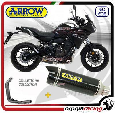 Arrow Komplett Auspuff Carbon Version niedrige Yamaha Tracer 700 16>