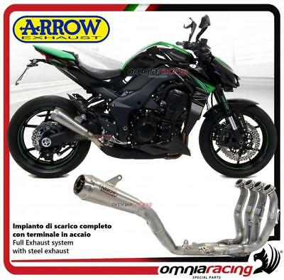 Arrow Komplett Auspuff Pro Racing Stahl Racing Kawasaki Z1000 2017>