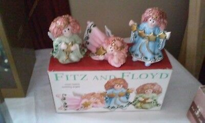 Fitz and Floyd Tumbling Angels Figurines in box.