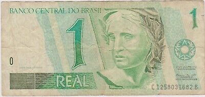 (N12-6) 1997 Brazil 1 real bank note (A)