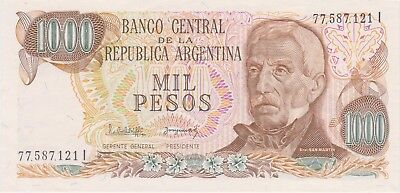(N12-4) 1977 Argentina 1000 peso bank note (D)