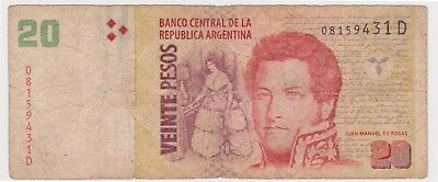 (N12-5) 2003 Argentina 20 peso bank note (E)