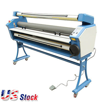 """55"""" Full-auto Wide Format Cold Laminator Roll to Roll Laminator AC110V USA Stock"""
