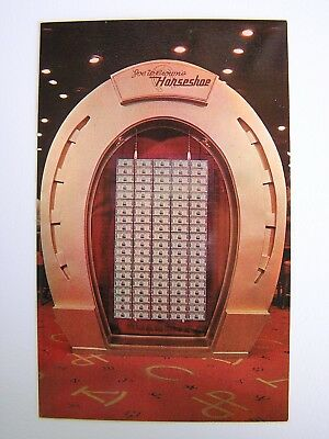 Horseshoe Club Casino Million Dollar Display Las Vegas Nevada Unused Postcard