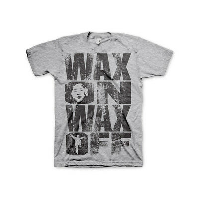 Officially Licensed Karate Kid Wax On Wax Off Men's T-Shirt S-XXL Sizes