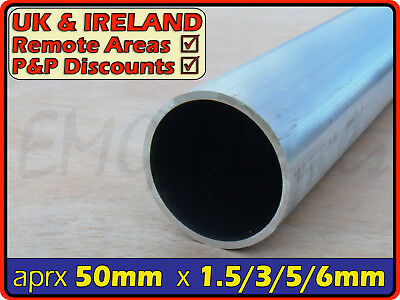 Aluminium Round Tube ║ 50mm - 51mm outside diameter║ section,pipe,Internal ID OD