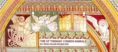 Isle of Man-St.Thomas Church Murals-new issue 2013 mnh