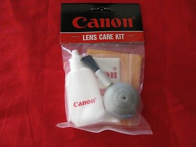 Canon Lens Care Kit Camera Care Cleaning Brush Liquid NEW