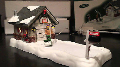Retired Dept 56 Clearing the Driveway Again Snowblower Animated Christmas
