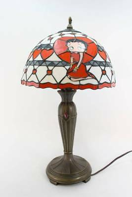 Danbury Mint Betty Boop Stained Glass Lamp Light Tiffany Style Extra large 50cm