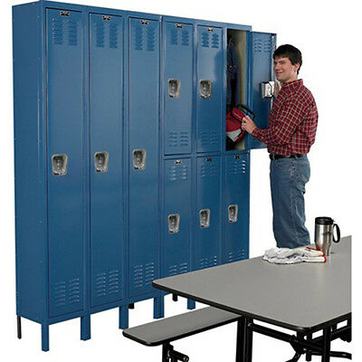 "HALLOWELL Premium 2-Tier Steel Locker - 12x18x36"" Openings - 3 Locker Wide -"