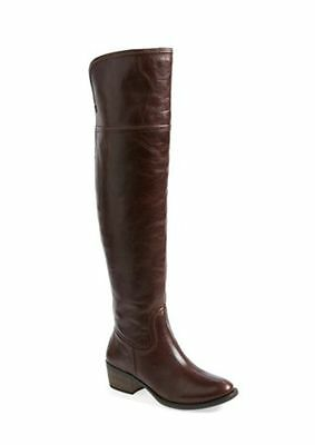 2107be1d88d Vince Camuto Baldwin 2 Leather Over the Knee Leather Boot Riding BROWN 7 M(C
