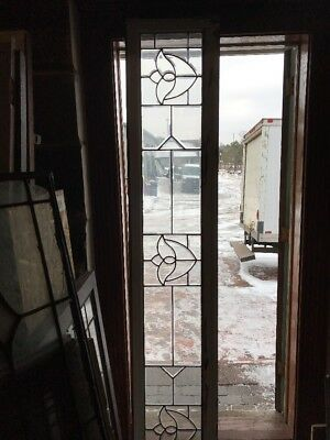 Sg 1745 Antique All Beveled Glass Tulip Transom Window 17 X 89