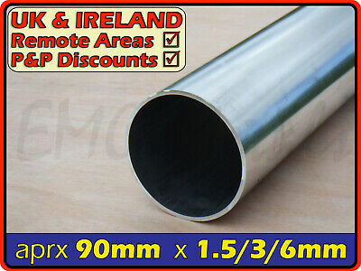 Aluminium Round Tube ║ 89mm - 90mm outside diameter║ section,pipe,Internal ID OD