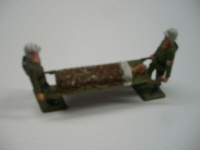 Plastic 3 Pc Medical Stretcher Team Wwii American G.i. Made In Italy Painted