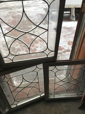 Sg 455 3 Available Price Separate Antique Beveled Center  Window 24.5 x 28.25