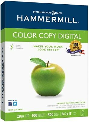 Hammermill Color Copy Digital Paper Letter Photo White 28lb 100 Bright 500 Sheet