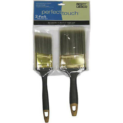 "Bestt Liebco Perfect Touch 2-Pack Brush Set (3"" Trim & 2 As), Lot of 6"