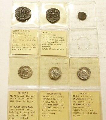 Mixed Lot of (6) Nice Ancient Roman Imperial Silver Coins & Byzantine Coins