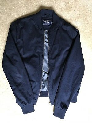Topman Navy Blue Jacket Medium