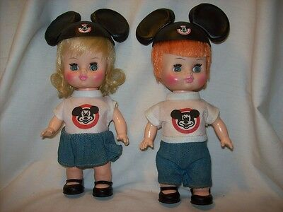 Horsman Boy & Girl Disney MOUSEKETEER Dolls, Mickey Mouse Club Complete Outfits