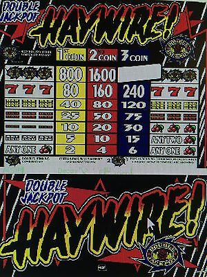 IGT S-Plus slot machine Double JackPot Haywire 3 coin 95 % Game & Reel chip
