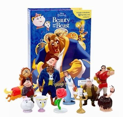 My Busy Book Disney Beauty and the Beast  with 12 Figurines & Playmat for Kids