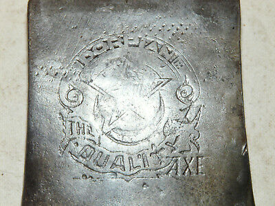 Vintage Embossed Dorpian 3 Pound Single Bit Axe Head The Quality Axe INV13012