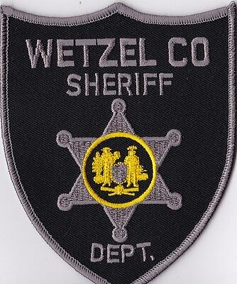 Wetzel CO Sheriff Dept. Police Patch West Virginia WV NEW!!