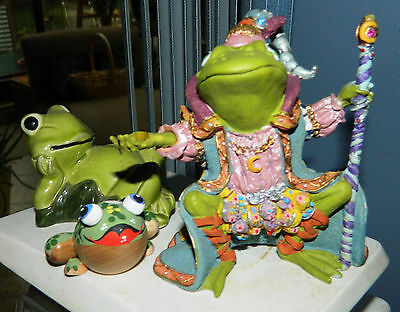 Hamilton Collection~1996 Camelot Frogs~WIZARD OF CAMELOT Figurine~#2968 & BONUS
