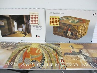 Lot of 5 Used JAL Japanese Airlines Art Calendars 16.5 x 11.25 Gorgeous Pictures