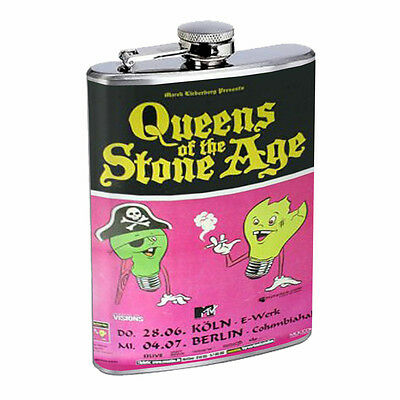 Queens of the Stone Age 2007 D299 Flask 8oz Stainless Steel