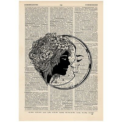 I Love You to Death Vintage Dictionary Art Print Tattoo Illustration Love