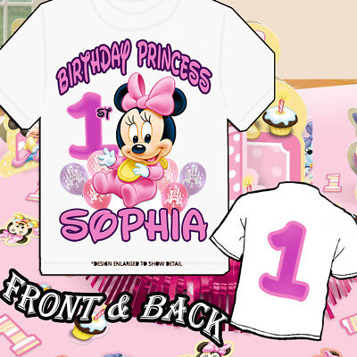 Custom baby Minnie Mouse or Mickey Mouse or -Personalized t-shirt 1st birthday