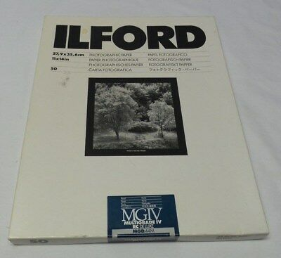 ILFORD Photographic Paper Pearl MGIV Multigrade IV RC Deluxe 50 Sheets 11 x 14