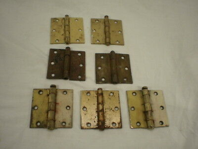 7 Vintage Door Cabinet Gate HINGES Rustic Rusty Old Paint Shabby Chic Decor Pin