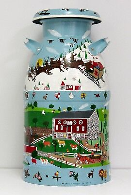 Hand Painted Milk Can - Amish  - 10 Gal - Signed -  A.J.SCHMOYER (FREE DEL ?)