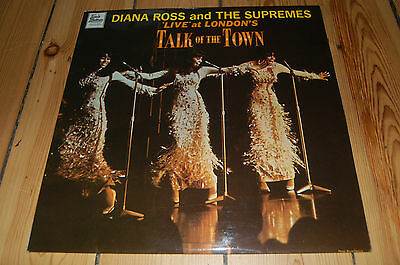 """Diana Ross And The Supremes """"live At The Talk Of The Town"""", Lp, 1968 Danish Rare"""
