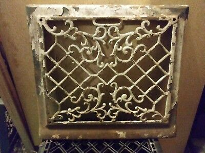 cast iron antique heating vent. Victorian style heat grate 15 1/2in x 13 1/2in