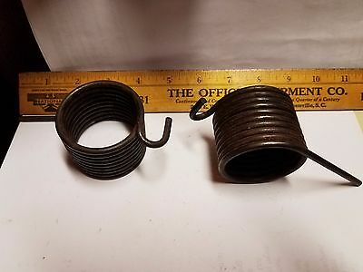 Lot of 2 - .176 WD 9 Coil Torsion Spring 2 9/32 OD x 1 15/16 ID 2 3/4 Leg Len