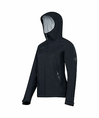 Mammut Ebba Jacket, Womens Waterproof, Black, XS