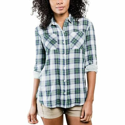 United By Blue Stargrass Relaxed Plaid Shirt Green/Navy XS